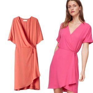 Aritzia Babaton Wallace Short-Sleeve Wrap Dress
